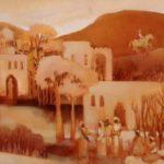 V Sarigeour, North African Village , Oil on Canvas